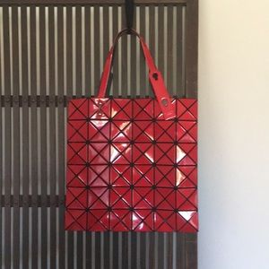 Authentic Issey miyake BaoBao red lucent tote